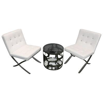 Alice & Celestine 3 Piece Lounge Set, White