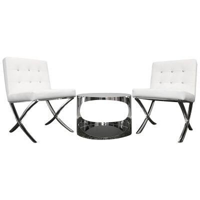 Alice & Cienista 3 Piece Lounge Set, White