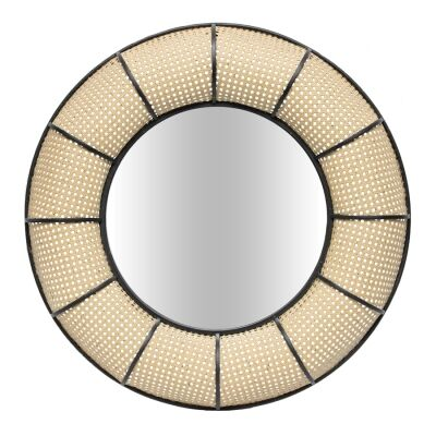 Tropea Metal Frame Round Wall Mirror, 80cm