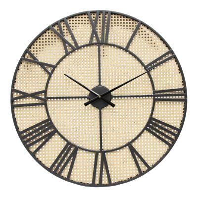 Tropea Metal Frame Round Wall Clock, 70cm