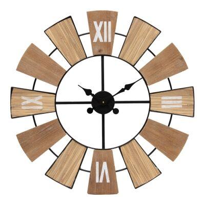Carmine Metal Round Wall Clock, 70cm