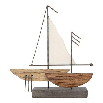 Marco Metal & Wood Sailboat Figurine