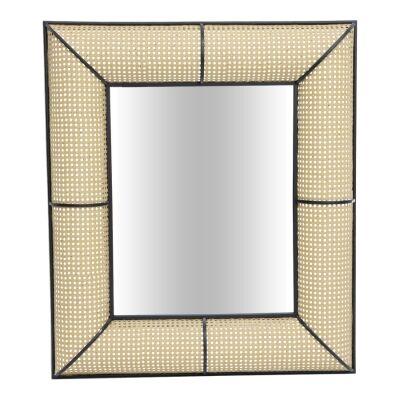 Tropea Metal Frame Wall Mirror, 90cm
