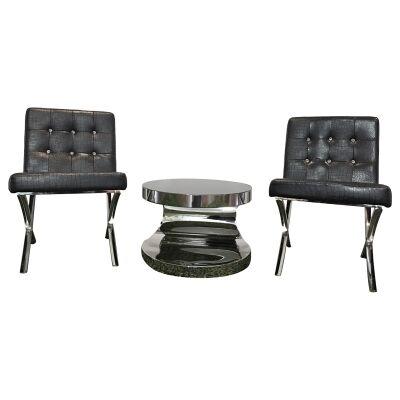 Alice & Cienista 3 Piece Lounge Set, Black