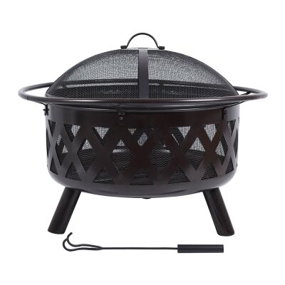 Campfire Iron Round Outdoor Fire Pit