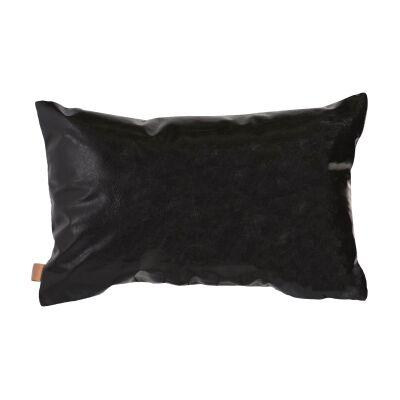 Parker Faux Leather & Felt Lumbar Cushion