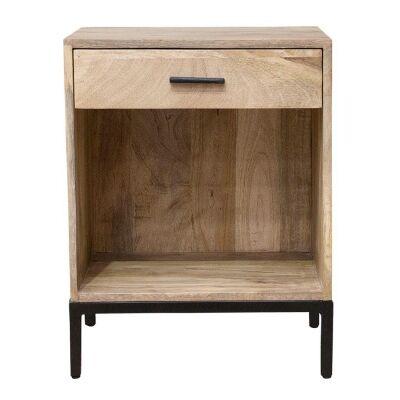 Alexander Mango Wood Bedside Table