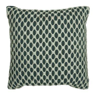 Camden Embellished Fabric Scatter Cushion, Eden Green