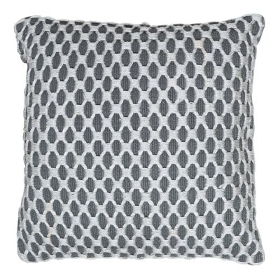 Camden Embellished Fabric Scatter Cushion, Charcoal