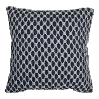 Camden Embellished Fabric Scatter Cushion, Indigo