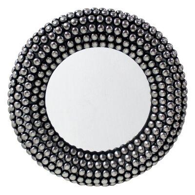 Valentina Iron Frame Round Wall Mirror, 66cm