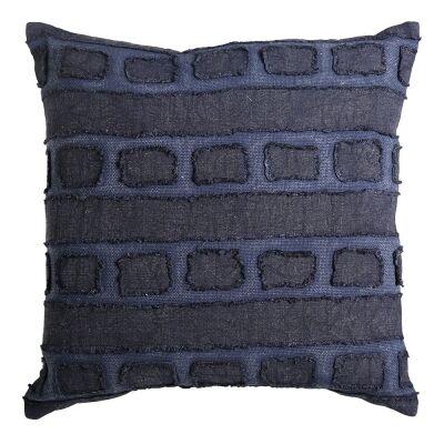 Tandall Fabric Scatter Cushion, Indigo