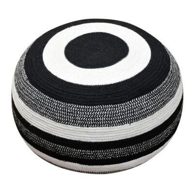 Amayla Cotton Round Ottoman