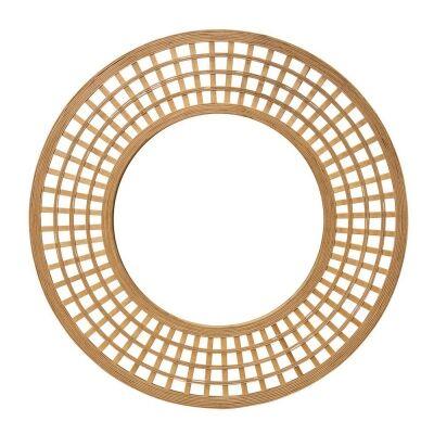 Ava Bamboo Frame Round Wall Mirror, 96.5cm, Natural