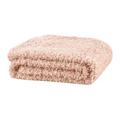 Lyla Faux Sheep Fur Throw, 130x160cm, Peach