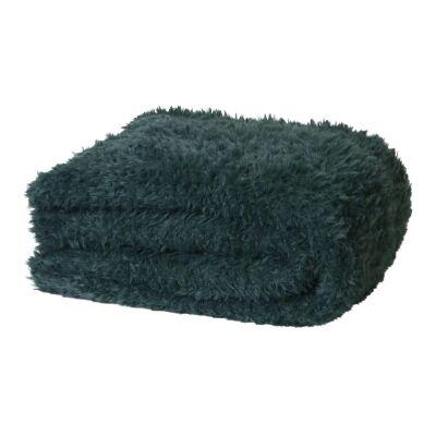 Eve Fur Knitted Plush Throw, 130x160cm, Eden Green