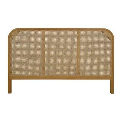 Seabrook Bayur Wood & Rattan Bed Headboard, King