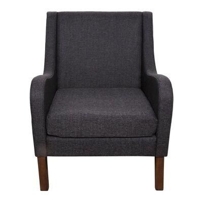 Spencer Linen Fabric Armchair, Charcoal