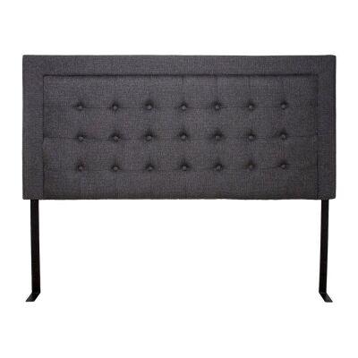 Kody Linen Fabric Bed Headboard, Queen, Charcoal
