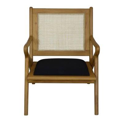 Zadie Bayur Wood & Rattan Armchair