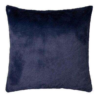 Arlo Faux Rabbit Fur Scatter Cushion, Indigo