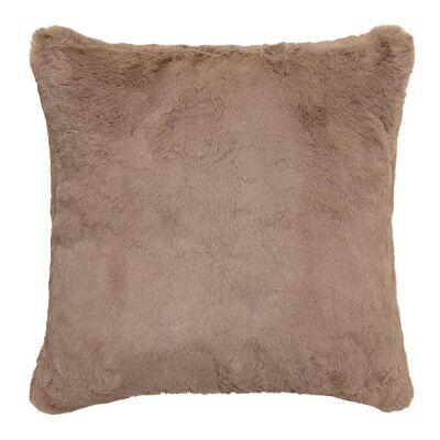 Arlo Faux Rabbit Fur Scatter Cushion, Sandstone