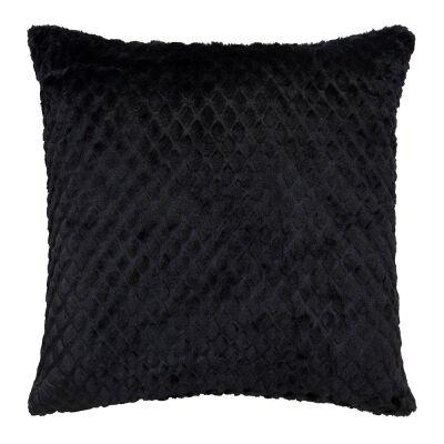 Azariah Plush Scatter Cushion, Black