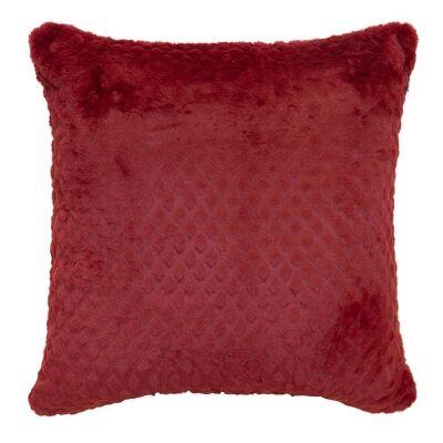Azariah Plush Scatter Cushion, Red