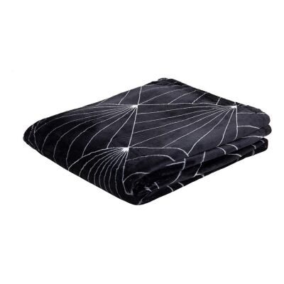 Celeste Flannel Throw, 130x160cm, Black