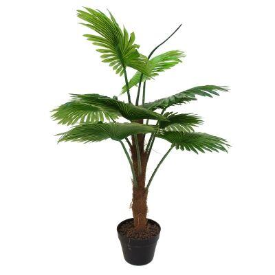 Potted Artificial Fan Palm, 100cm