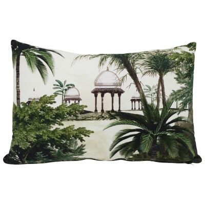 Regal Embroided Cotton Lumbar Cushion