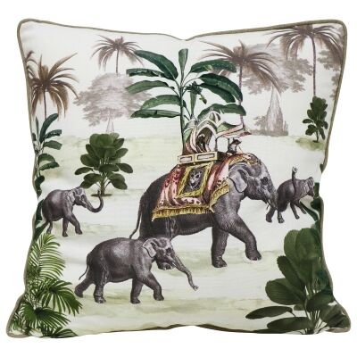 Royal Elephant Cotton Scatter Cushion