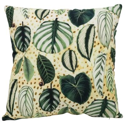 Stripy Leaves Cotton Scatter Cushion