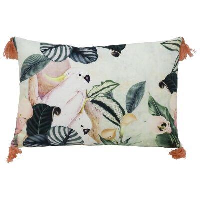 Hello Cocky Cotton Lumbar Cushion