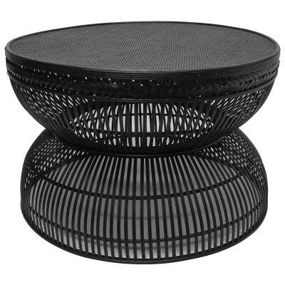 Noula Rattan Round Coffee Table, 80cm