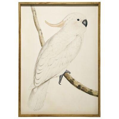 """Cockatoo Right"" Framed Canvas Wall Art, 157cm"