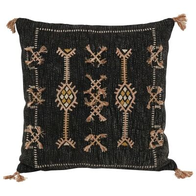 Pedro I Embroidered Cotton Scatter Cushion