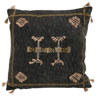 Pedro II Embroidered Cotton Scatter Cushion