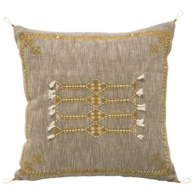 Pedro III Embroidered Cotton Scatter Cushion