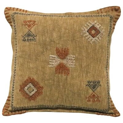 Manu Embroidered Cotton Scatter Cushion