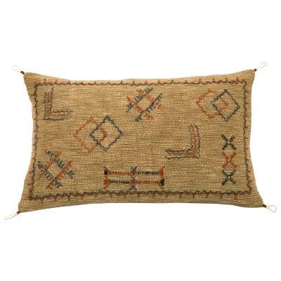 Manu Embroidered Cotton Lumbar Cushion