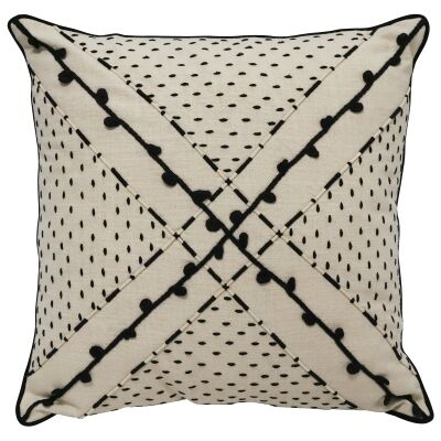 Teena Embroidered Cotton Scatter Cushion