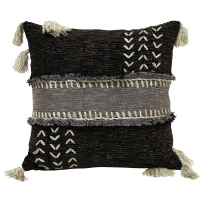 Khana I Embroidered Cotton Scatter Cushion