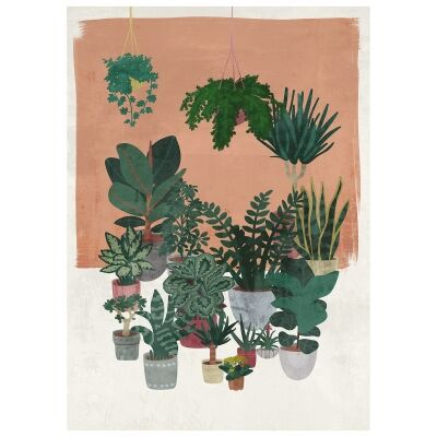 """""""Potted Lushness"""" Outdoor Canvas Wall Art, 120cm"""
