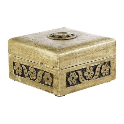 Mysia Hand Carved Wooden Trinket Box