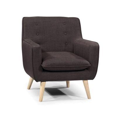 Molena Commercial Grade Fabric Lounge Armchair, Mocha