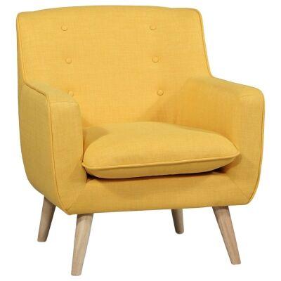 Molena Commercial Grade Fabric Lounge Armchair, Mustard