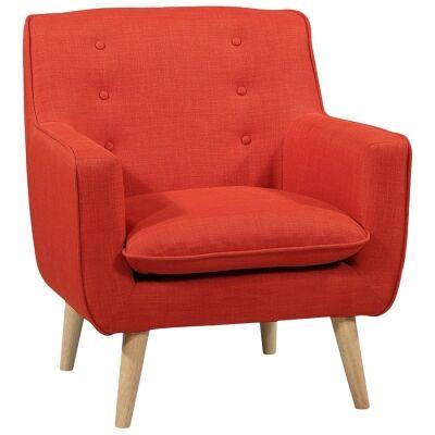 Molena Commercial Grade Fabric Lounge Armchair, Blood Orange