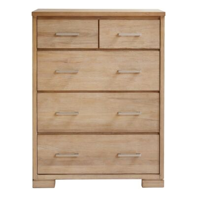 Quintus Mountain Ash Timber 5 Drawer Tallboy
