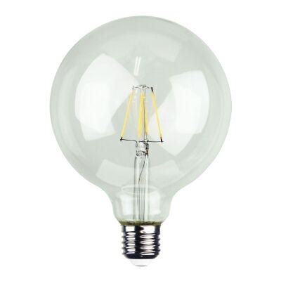 Allume G125 Dimmable LED Filament Globe, E27, 2700K, Clear